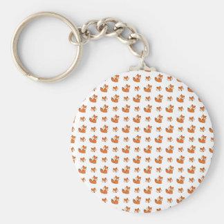 Porte-clés motif de renards rouges