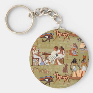 Porte-clés Motif de symboles de l'Egypte |