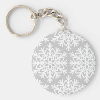 Porte-clés Motif élégant de flocon de neige