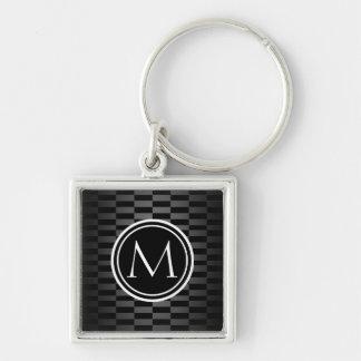 Porte-clés Motif et monogramme élégants modernes