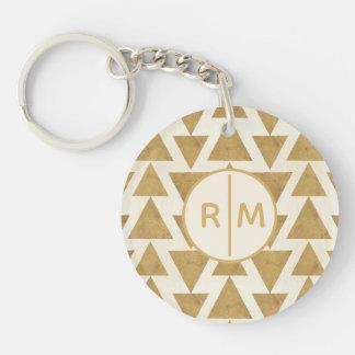 Porte-clés Motif géométrique de Geo d'or extérieur d'étape |