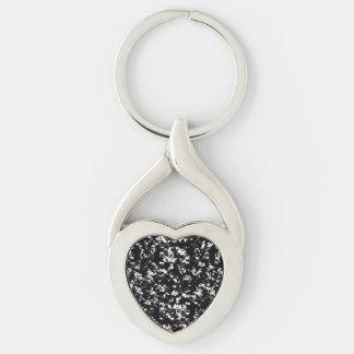 Porte-clés Motif grunge noir et blanc