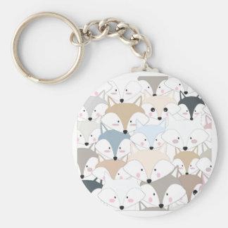 Porte-clés Motif mignon de renard ou de loup de bande