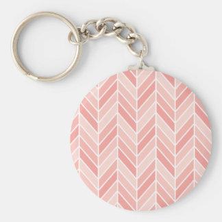 Porte-clés motif rose de chevron