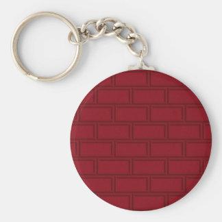 Porte-clés Motif rouge frais de mur de briques de bande