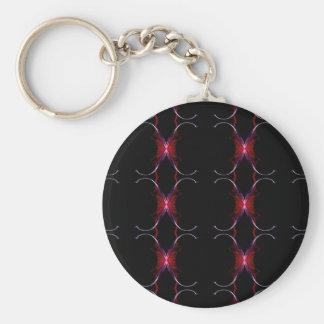 Porte-clés Motif sans couture de roses indien de gris de