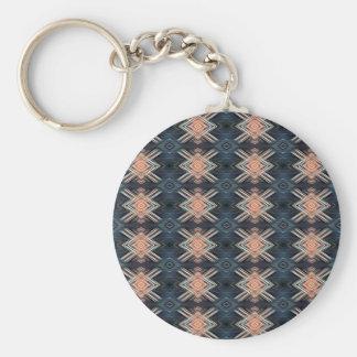 Porte-clés Motif tribal de charbon de bois de pêche masculine