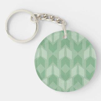 Porte-clés Motif vert extérieur de flèche d'étape | de Geo