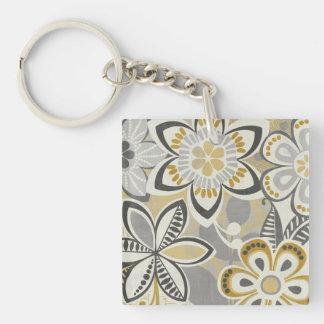 Porte-clés Motifs floraux contemporains