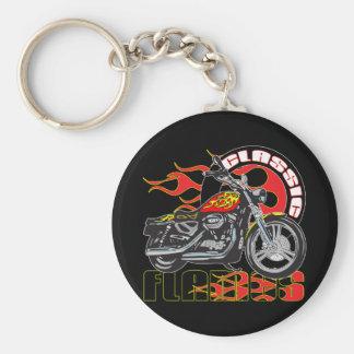 Porte-clés Moto classique vintage du travail de peinture de