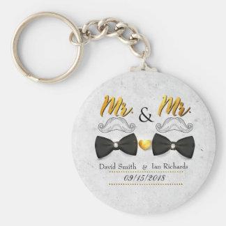 Porte-clés Moustache et arc pour M. et M.