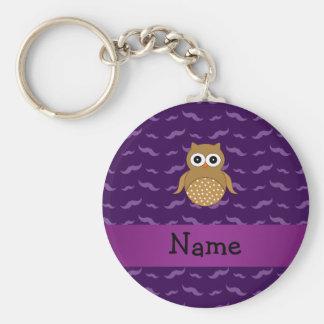 Porte-clés Moustaches brunes nommées personnalisées de