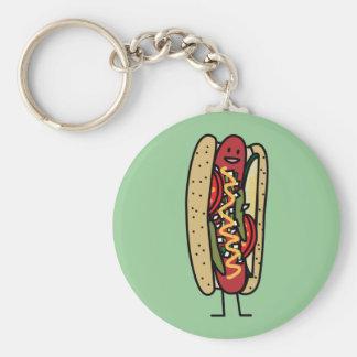 Porte-clés Moutarde rouge chaude de petit pain de pavot de