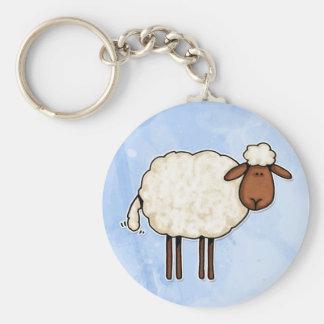 Porte-clés moutons blancs