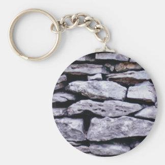 Porte-clés mur empilé de roche