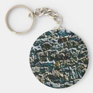 Porte-clés mur en pierre brut