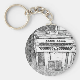 Porte-clés Musique d'orgue antique d'église