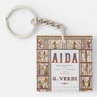 Porte-clés Musique vintage d'opéra, Egyptien Aida par Verdi