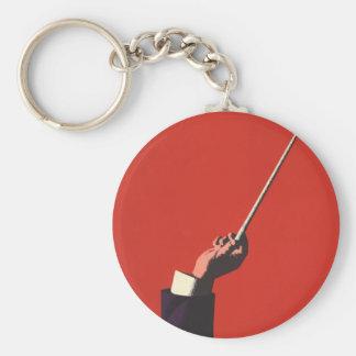 Porte-clés Musique vintage, la main du conducteur tenant un
