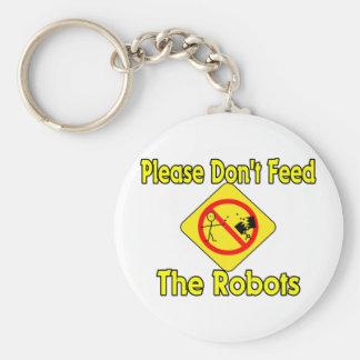 Porte-clés N'alimentez pas les robots
