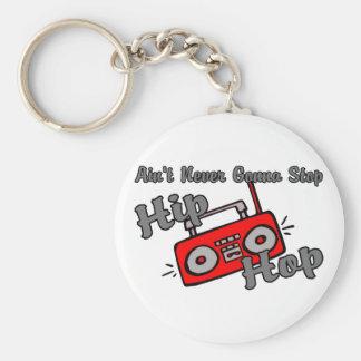 Porte-clés N'arrêtez jamais le hip hop