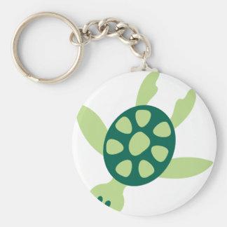 Porte-clés Natation de tortue verte
