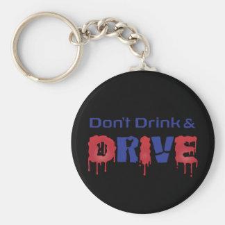 Porte-clés Ne buvez pas et ne conduisez pas