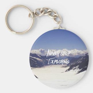 Porte-clés Ne cessez jamais de l'explorer