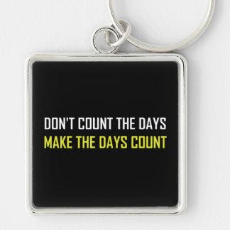 Porte-clés Ne comptez pas la citation de jours