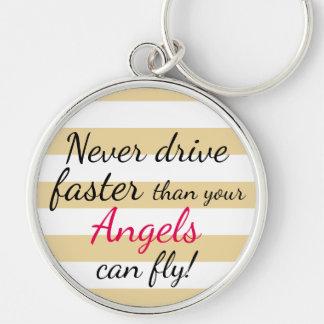 Porte-clés Ne conduisez plus rapidement jamais que les anges