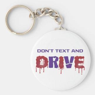 Porte-clés Ne font pas le texte et la commande