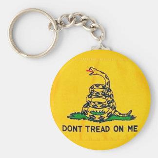 Porte-clés Ne marchez pas sur moi le porte - clé de drapeau