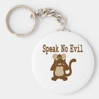 Porte-clés Ne parlez aucun porte - clé mauvais