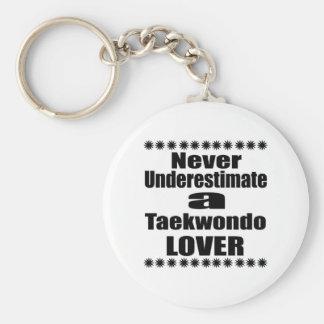 Porte-clés Ne sous-estimez jamais l'amant du Taekwondo