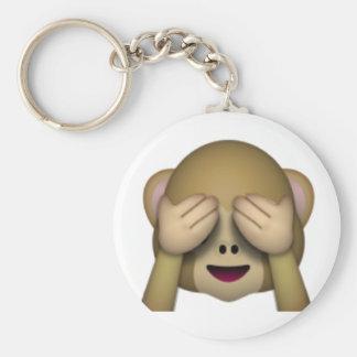 Porte-clés Ne voir l'aucun singe mauvais - Emoji