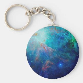 Porte-clés Nébuleuse d'Orion miroitant la NASA bleue