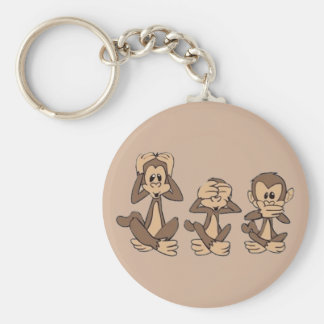 Porte-clés N'entendez aucun mal, ne voyez l'aucun mal, ne