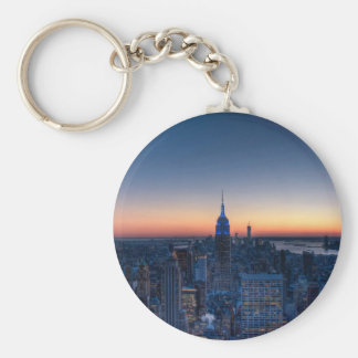Porte-clés New York City à partir du dessus du centre de