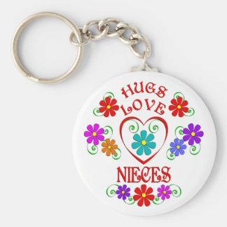 Porte-clés Nièces d'amour d'étreintes