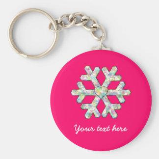 Porte-clés Noël de rose de flocon de neige de roses indien