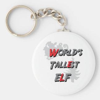 Porte-clés Noël laid du T-SHIRT d'ELF LE PLUS GRAND du MONDE