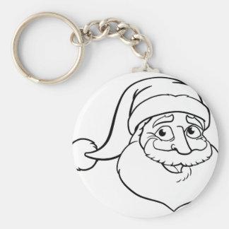 Porte-clés Noël le père noël de bande dessinée