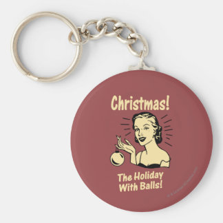 Porte-clés Noël : Les vacances avec des boules
