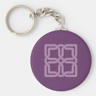 Porte-clés Noeud celtique lilas mystique