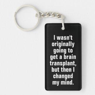 Porte-clés Noir de calembour de greffe de cerveau