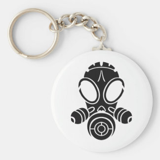 Porte-clés noir de masque de gaz