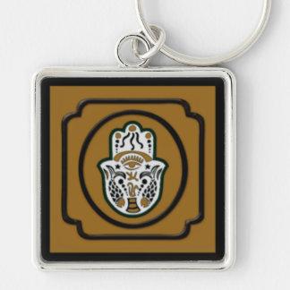 Porte-clés Noir et porte - clé de Hamsa d'or