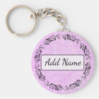 Porte-clés Noir simple personnalisé et pourpre de porte - clé