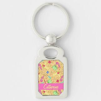 Porte-clés Nom de couture jaune Personalizd d'art de notions