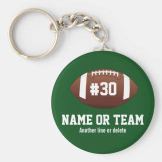 Porte-clés Nom personnalisé de conception du football,